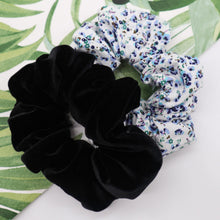 Load image into Gallery viewer, The Black Velvet scrunchie