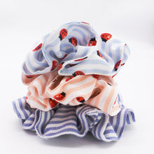 Load image into Gallery viewer, The Blue Ladybird scrunchie