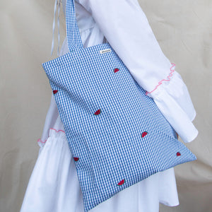 The Chequered Watermelon tote bag