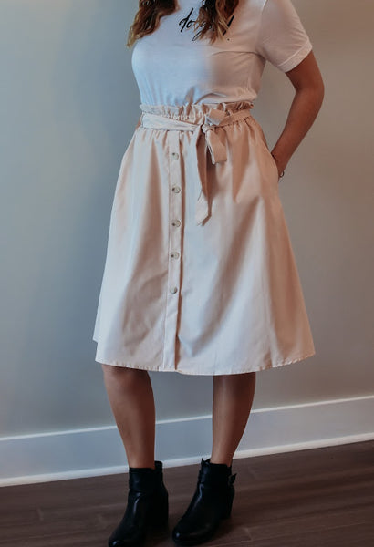 Vintage High Waisted Skirt