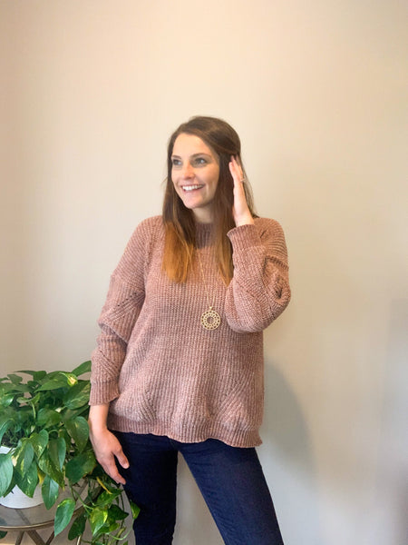 Mocha Chenille Sweater