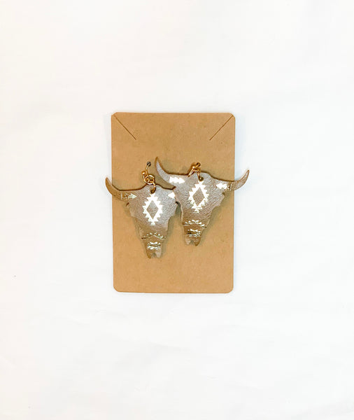 Leather Bull Earrings