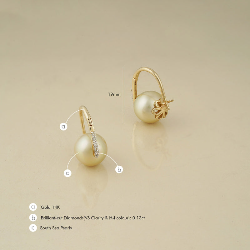 Grace Kelly Pearl Earrings/m010