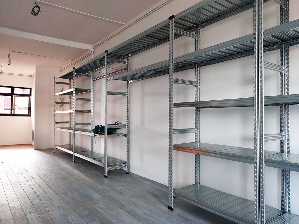 Boltless Rack Row with Reinforcement Bar and Hooks in Living Room by SIM WIN LIANG