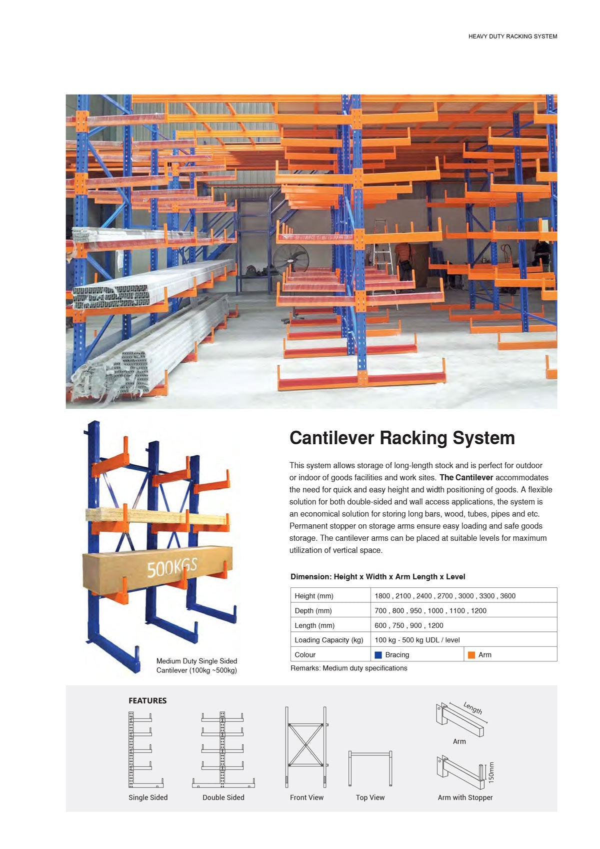 Cantilever Rack System | Long Object Storage | SIM WIN LIANG Singapore