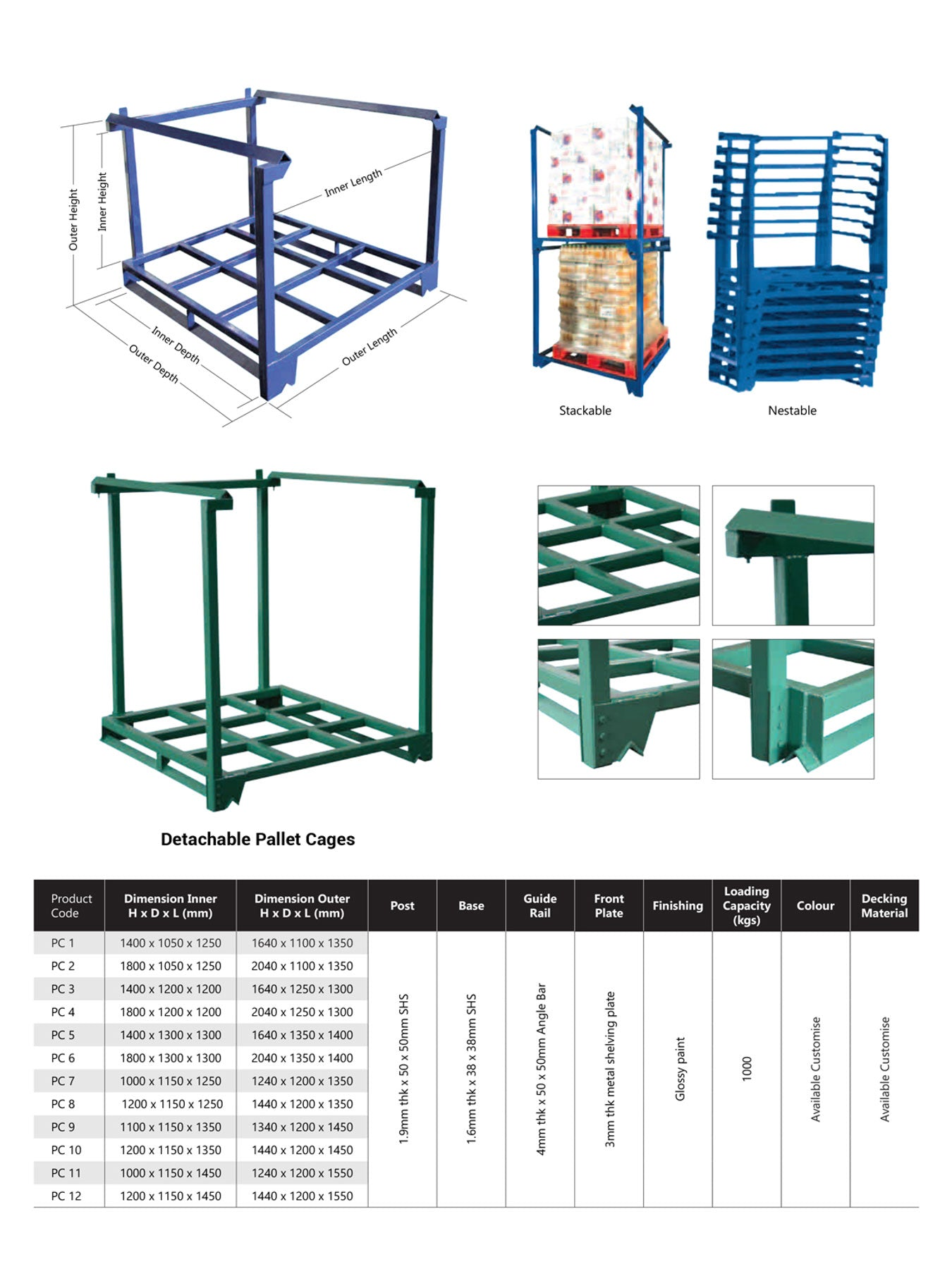 Pallet Cage, Industrial Storage Container by SIM WIN LIANG