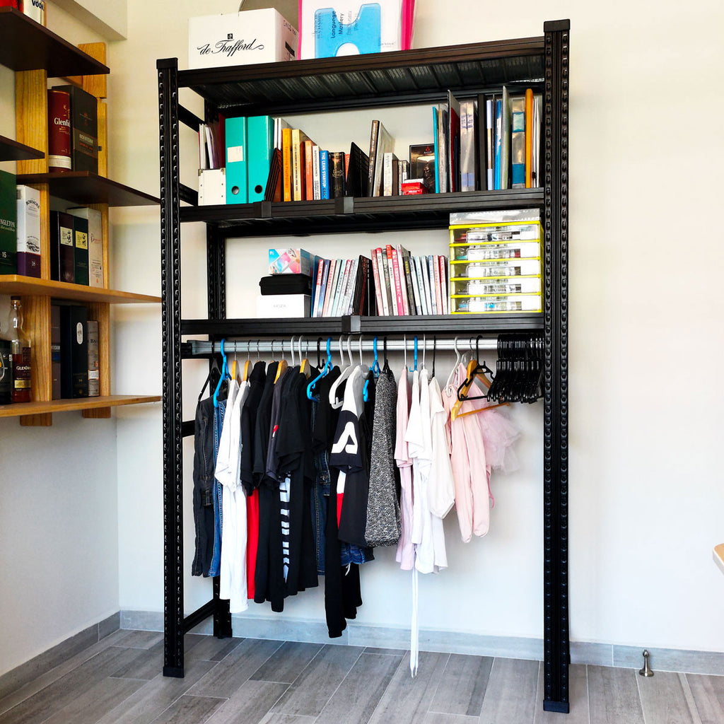 Boltless Clothes Rack, Black | Home Clothes Storage Concept| SIM WIN LIANG Singapore