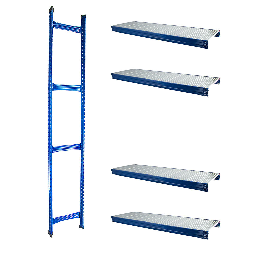 Boltless Rack Extension | 4 Shelf Levels | Blue | SIM WIN LIANG Singapore