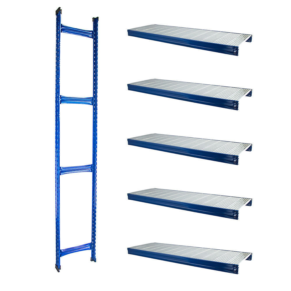 Boltless Rack Extension | 5 Shelf Levels | Blue | SIM WIN LIANG Singapore