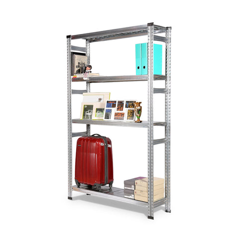 Silver Boltless Storage Rack 4 Shelf Levels - SIM WIN LIANG