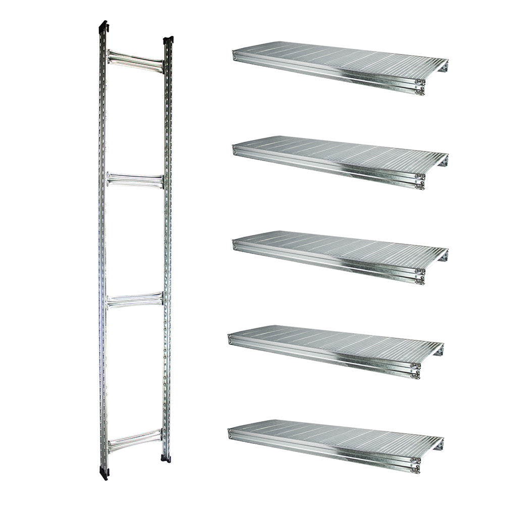 Boltless Rack Extension | 5 Shelf Levels | Silver | SIM WIN LIANG Singapore