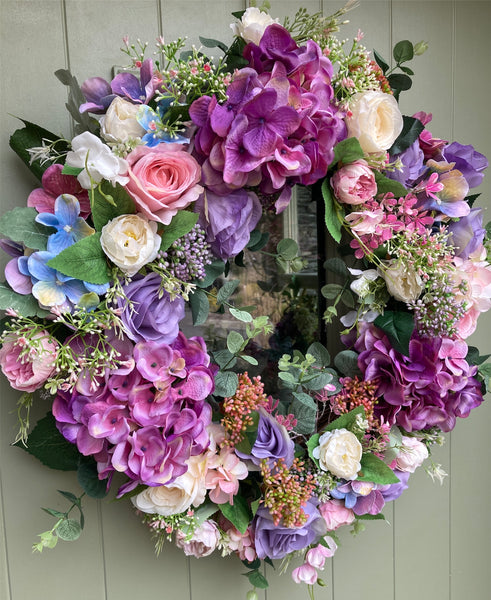 Rose and Hydrangea Wreath- Limited Edition