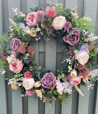 Romantic Rambling Rose Wreath- Preorder for Dispatch 8th March