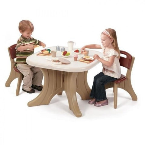 Image of Kinderen-spelen-Picknicktafel-Table-en-Chairs-Set