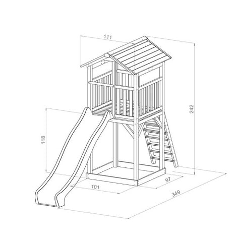 beach-tower-basic-tekening-afmetingen