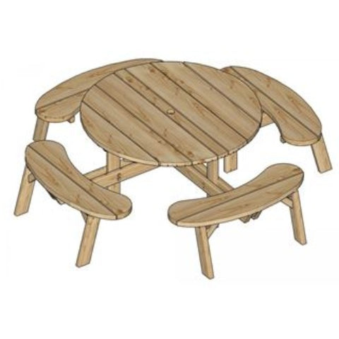 Image of ronde-picknicktafel-jimmy-woodvision-houten-picknicktafel