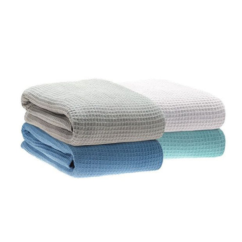 Waffle Weave Cotton Blanket - Baines Manchester