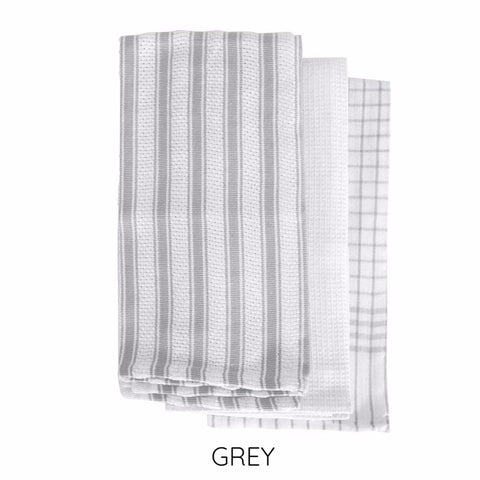 Gardenia Tea Towel Set 3 Pack