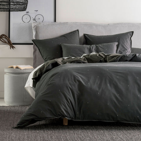 Alexandria Charcoal Quilt Cover Set - Baines Manchester