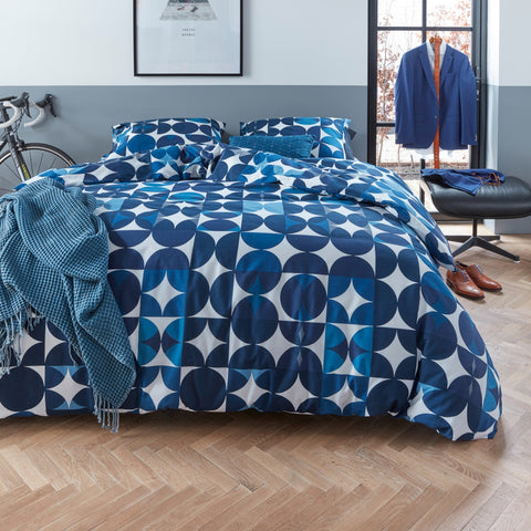 Alster Blue Quilt Cover Set - Baines Manchester