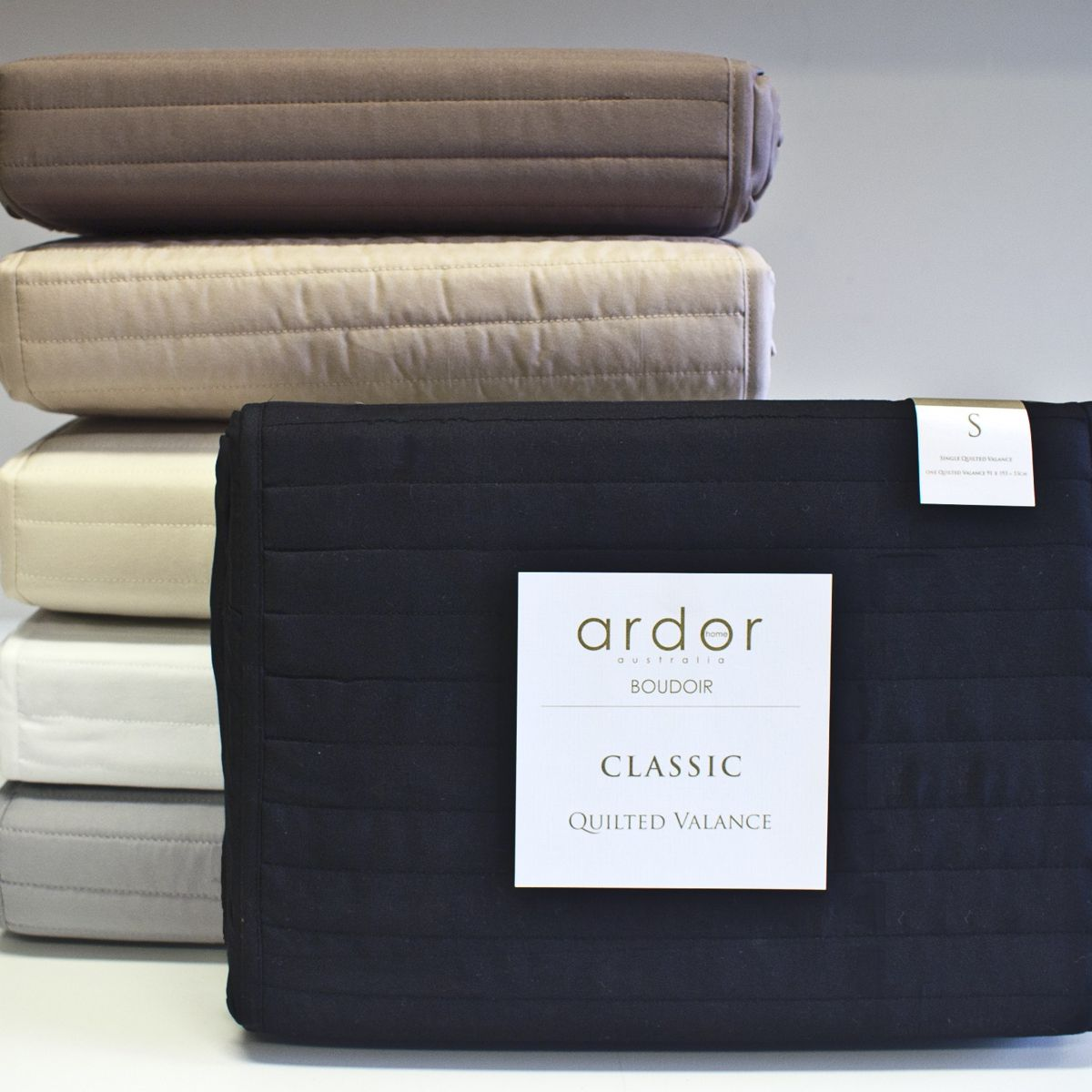 Quilted Bed Valance | Baines Manchester : quilted valances - Adamdwight.com