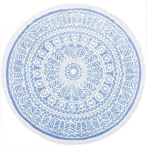 Oliana Round Beach Towel