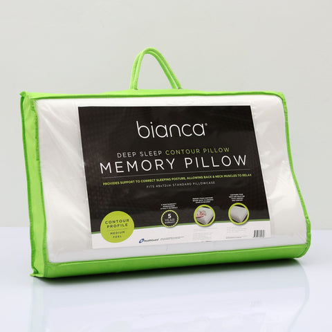 "Bianca""Deep Sleep"" Contoured Memory Foam Pillow"