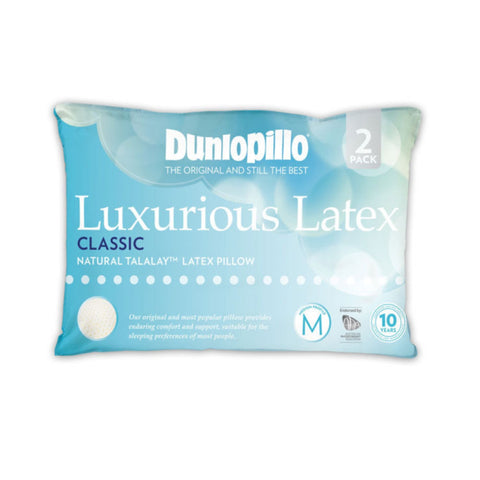 TWIN PACK Classic Dunlopillo Talalay™ Latex Pillow
