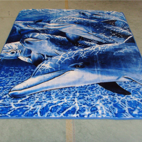 Dolphin Minklon Blanket - Queen Bed Only - Baines Manchester