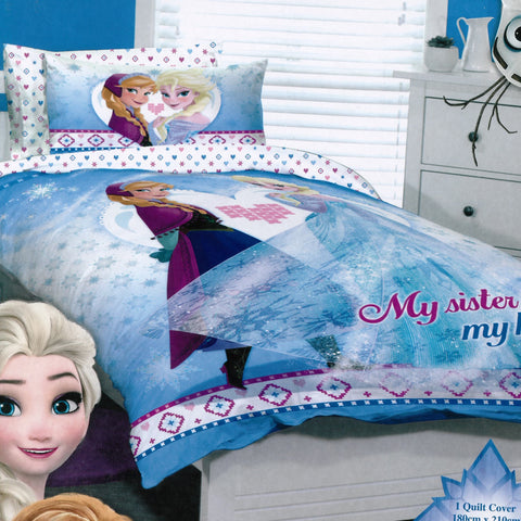Frozen Sisterly Love Quilt Cover Set - Baines Manchester