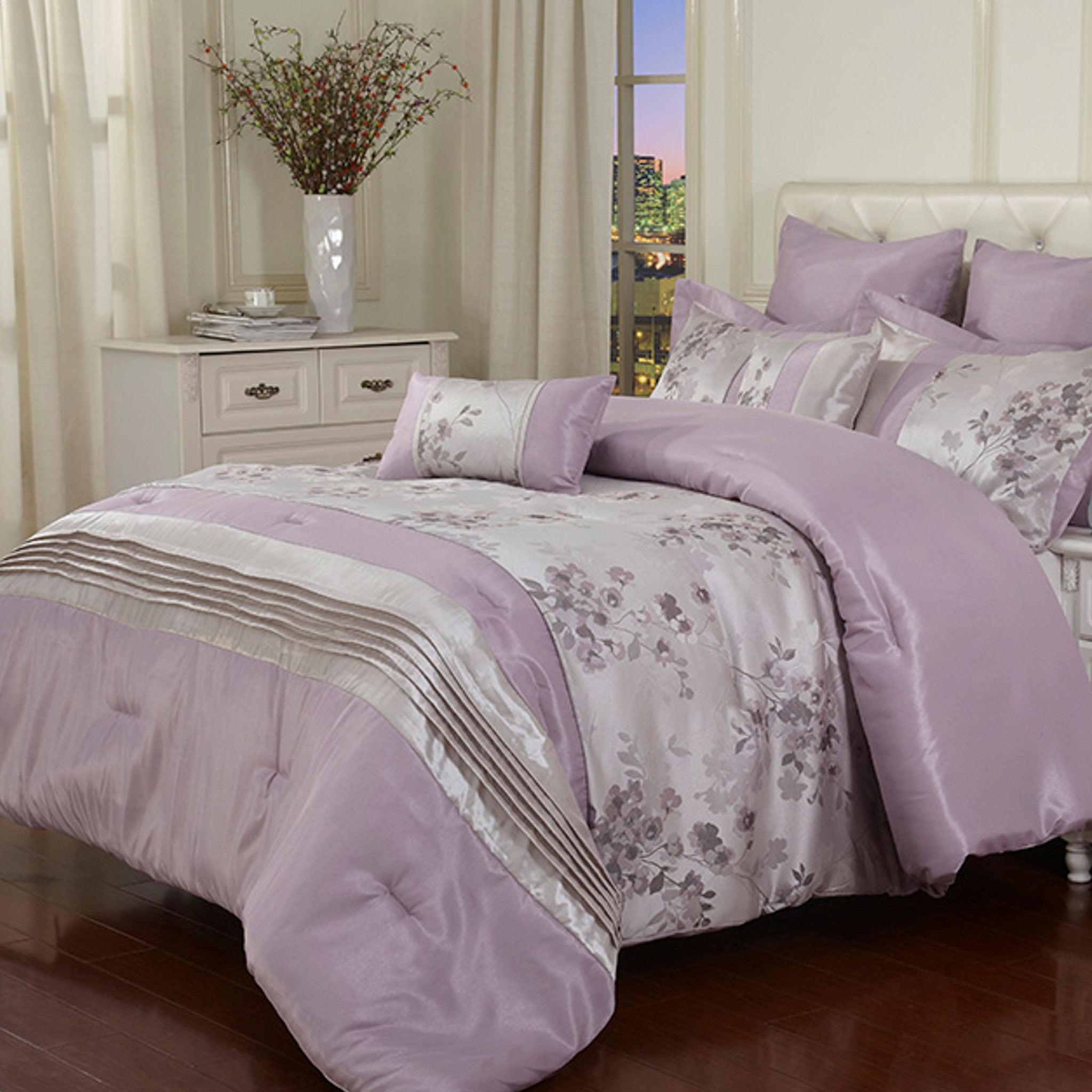 quilt product purple cot set img mermaid