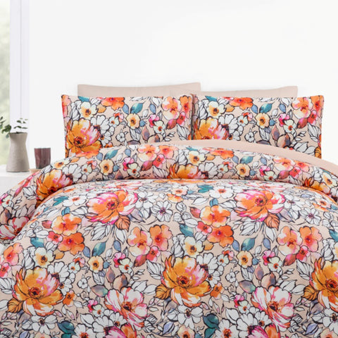 Kitsune Orange Quilt Cover Set - Baines Manchester
