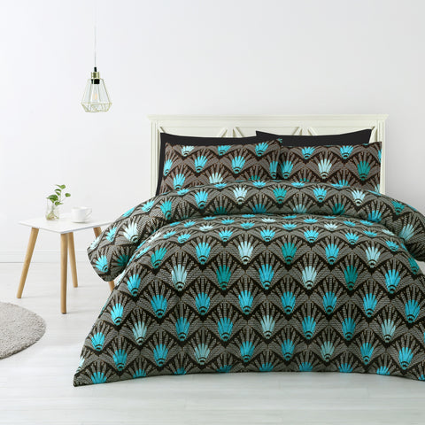 Kenzi Blue Quilt Cover Set