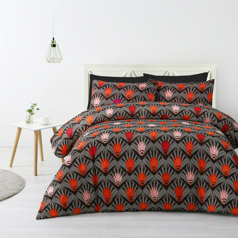 Kenzi Orange Quilt Cover Set