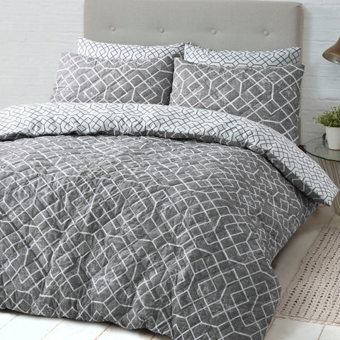 Lattice Quilted Quilt Cover Set