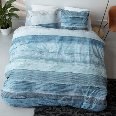 Lived Blue Quilt Cover Set - Baines Manchester