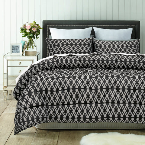Living Black 3 Piece Comforter Set - Baines Manchester