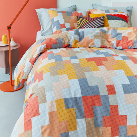 Maipu Coral Quilt Cover Set - Baines Manchester