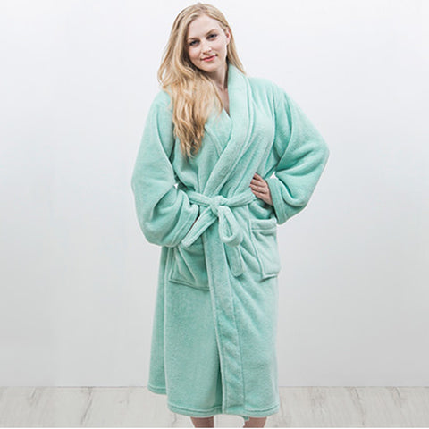 Microplush Bath Robe Assorted Colours - Baines Manchester