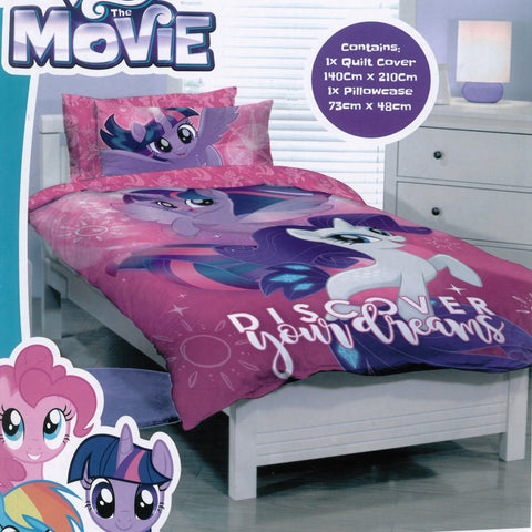 My Little Pony The Movie Quilt Cover Set - Baines Manchester