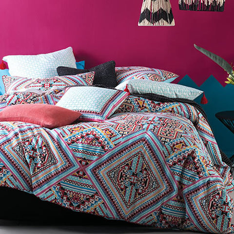 Nyla Multi Quilt Cover Set by Linen House