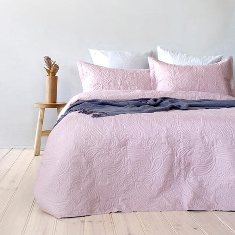 Paisley Embossed Coverlet Set - Baines Manchester