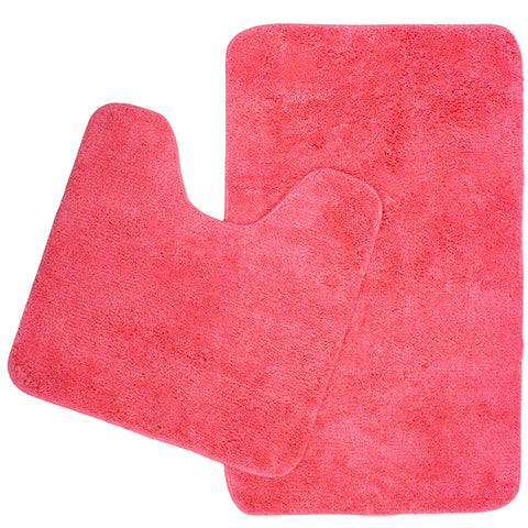 2 Piece Microplush Bath Mat Set - Baines Manchester