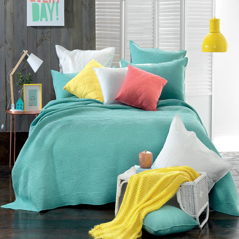 Rylee Mint Coverlet Set - Baines Manchester