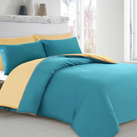 Reversible Quilt Cover Set. 5 colours - Baines Manchester
