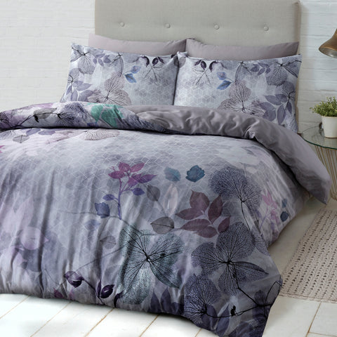 Soft Leaves Quilt Cover Set