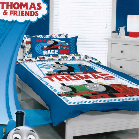 Thomas the Tank Race On Quilt Cover Set - Baines Manchester