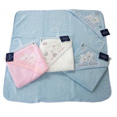Baby Embroidered Hooded Towel - Baines Manchester