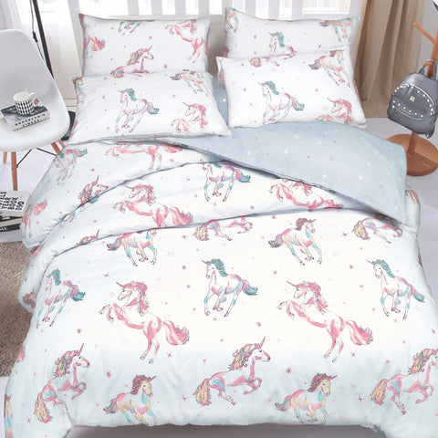 Unicorn Reversible Quilt Cover Set - Baines Manchester