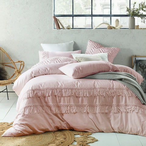 Boho Linen Cotton Quilt Cover Set